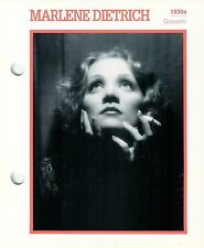 """Marlene Dietrich Actress Movie Star Card Photo Front Biography on Back 6 x 7"""""""