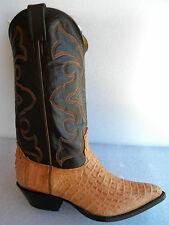 New NOCONA 8 EE Horned Alligator Sand Color Made in USA Cowboy Boot OLD STOCK