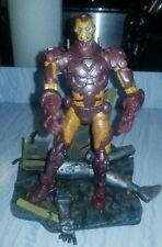 Marvel Legends Custom Battle Worn Iron Man VIII Modern Armor w/ Ultron Diorama
