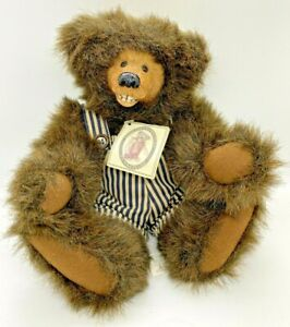 Collectible Kimbearly Originals Plush Chuckles  w/ Resin Face Brown Limited Ed