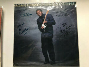 ROBERT CRAY  Strong Persuader  AUTOGRAPHED LP