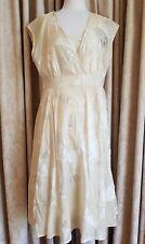 JIGSAW Cream/Taupe Dress Size 14