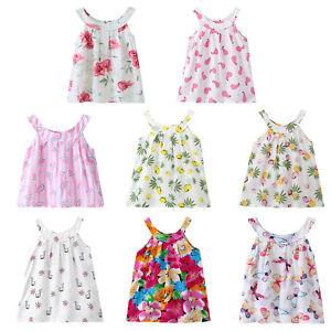 Baby Girls Sleeveless Dress Cartoon Clothes Dresses One piece Summer Soft Outfit