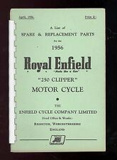 1956 ROYAL ENFIELD 250 CLIPPER MOTORCYCLE PARTS MANUAL