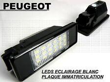 PEUGEOT 208 LEDS LED LICENSE PLATE LIGHTS WHITE XENON LAMPS BULB HDi GTi THP VTi