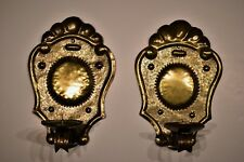 Gilt Copper / Ormolu Wall Sconces Candle Prickets Pair 18th - 19th Century