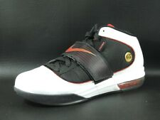 Nike Zoom Soldier IV 407707 100 Basketball Mens Shoes White Red Leather Retro DS