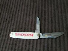 """Vintage Winchester Advertising 3-1/2"""" Two Blade Equal End Jack Pocket Knife USA"""