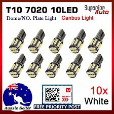 10x Error Free T10 168 194 7020 10LED Car Interior Dome Number Plate Light White