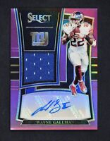 2017 Select Rookie Signature Memorabilia Prizm Auto Purple #WG Wayne Gallman /49