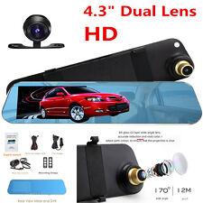 4.3'' HD1080P Dual Lens Auto Car SUV DVR Camera Rearview Mirrors Recorder Video