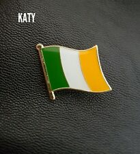 Pin Enamel Brooch Country Flag Ireland Flag Traditional Tricolor Small Metallic