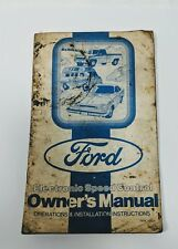 Ford Electronic Speed Control Owners Manual form 1947A