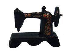 1:12 black metal tavolo macchina da cucire Accessorio in miniatura casa delle bambole