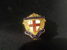 Vtg Brass & Enamel Badge Pin L&SC BOWLING ASSOCIATION 1895 Mint Condition
