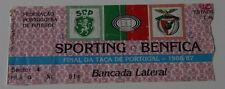 old ticket Final Taca de Portugal 1987 Sporting Benfica LIsboa in Oeiras