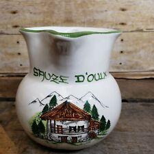 Dipinto a mano Italian Ceramic Pitcher Sauze D'oulx Pottery Lazzarotto