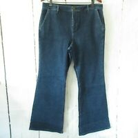 New Brooke Shields Wide Leg Flare Jeans 16 Timeless Trouser QVC Plus Size