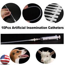 10/50Pcs Disposable Artificial Insemination Rod Breeding Catheter Tube Dog Sheep