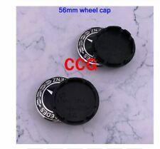 4pcs 56mm Car logo Wheel Center Cap rim Badge 56 bc A black c