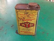 bidon additif huile KYD années  30 , Additive French can oil , Years 1930