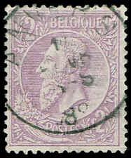 Scott # 59 - 1886 - ' King Leopold II '; Pale Lil Paper