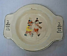 1940's Sovereign Potters Canada Toddler Training Plate Child Dish Ceramic Bowl