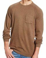 VOLCOM Men/'s Maroon Striped Innercircle Casual Long Sleeve Knit Crewneck Sweater