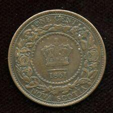 1861 Nova Scotia One Cent - Nice AU Condition
