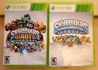 Skylanders Lot: Giants, Spyro's Adventure Xbox 360 2 Game Bundle