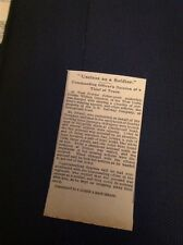 G4-1 Ephemera 1915 Article W Ibbotson Truro Steals Clothes Deserts Army Trial
