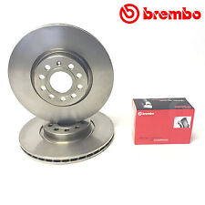 FOR VW GOLF MK6 2.0 GTD FRONT BREMBO HIGH CARBON BRAKE DISCS PADS 312mm