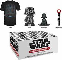 Smugglers Bounty Black Chrome Darth Vader STAR WARS Funko Pop +T-shirt New Box