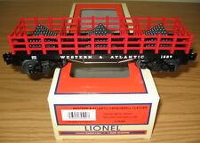 LIONEL 6-39490 WESTERN ATLANTIC W&ARR FLATCAR CANNONBALL O GAUGE TRAIN CIVIL WAR