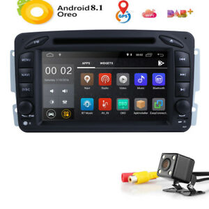 Android 8.1 Car DVD Radio Stereo GPS for Mercedes-Benz C Class W203 W209 W463 US