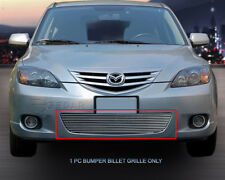 Lower Bumper Billet Grille Grill  For 2004-2006 Mazda 3 Sport Hatchback