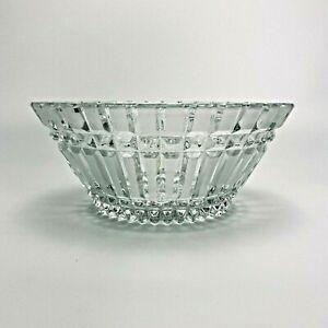 Crystal Basket Bowl Vintage USSR Vintage Soviet vase candy glass Metal Russian clear Glass Candy Bowl Candy vase dish Rare vase sweets