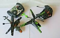 sky rover + ignite helicopter/choppers with remote lot OF 2 untested AS IS