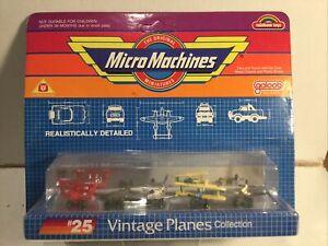 Vintage Micro Machines Vintage Planes  Galoob 1988 Mint In Sealed Pack