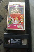 Vintage VHS Video Movie Tape Disney Masterpiece Alice in Wonderland 036