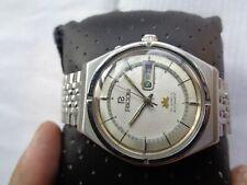 Ricoh Japan Mens 21J Automatic Wristwatch Rare Vtg Off White Dial Ss