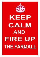 "FARMALL International Harvester TRACTOR ""KEEP CALM"" FUNNY METAL SIGN PLAQUE 6x8"""