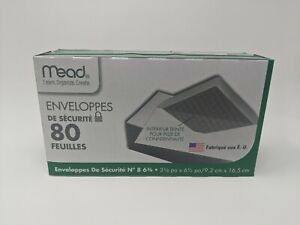 """Mead #8 6 3/4 Security Envelopes 80 ct (3 5/8"""" X 6 1/2"""")"""