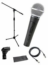 Shure*SM58-S+STAND+CABLE*Microphone Bundle Boom Stand &  XLR Cable FREE SHIP
