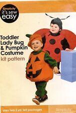 Simplicity Toddler Lady Bug & Pumpkin Costume Pattern  UNCUT