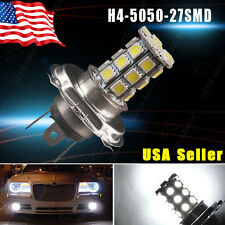 1x White H4 9003 5050 HB2 27-SMD LED DRL Daytime Fog Driving Light Bulb DC 12V