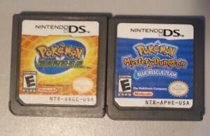 Pokemon Mystery Dungeon: Blue Rescue Team & Pokemon Ranger Authentic Nintendo DS