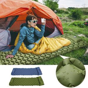 Inflatable Camping Mat Ultralight Lightweight Single Sleeping Mattress Pillow