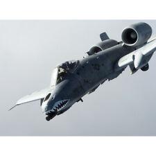 Military USA A-10 Thunderbolt II Aircraft Jet Canvas Wall Art Print Poster