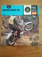 Fiche Moto Motorcycle Card 12 x 12,5 cm - BULTACO SHERPA 350 - 1978